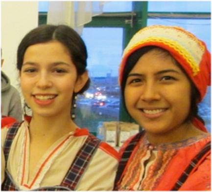 Ainsley (left) was awarded third place in the competition at Moscow State University.