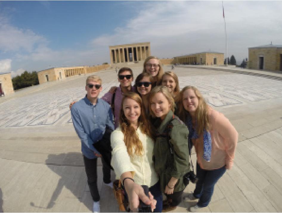 SLI-Y Turkey students visit the Mausoleum of Atatürk
