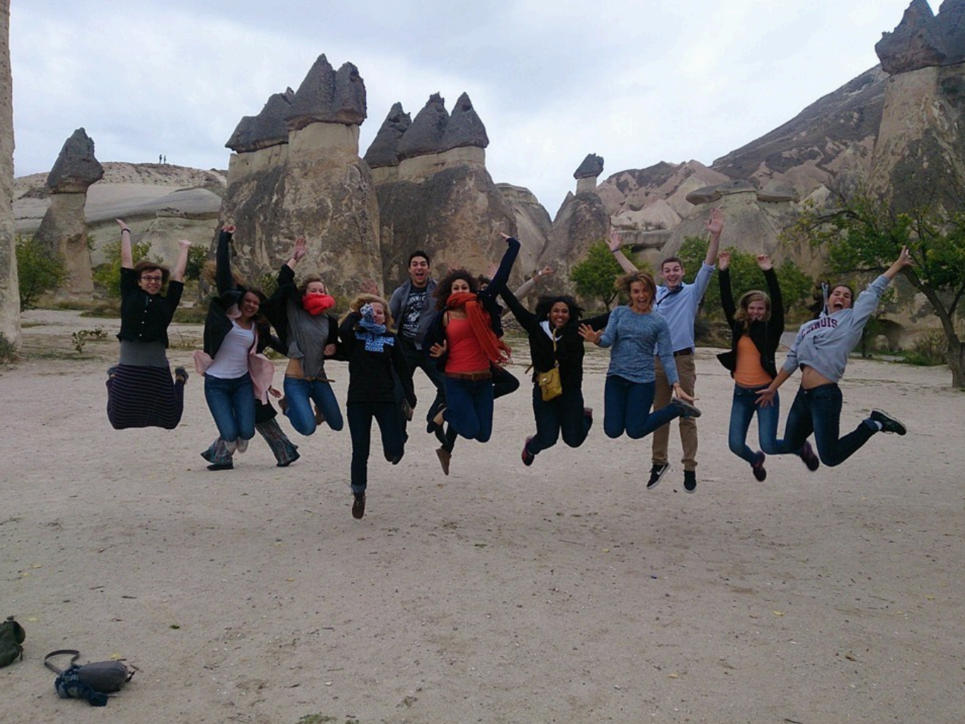 NSLI-Y and YES Abroad students in Cappadocia
