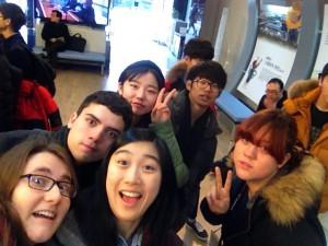 NSLIYians posing with Korean students.
