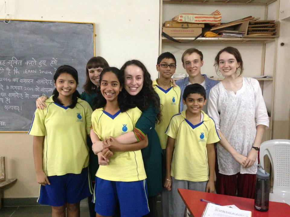 NSLI-Y students visit a local school.