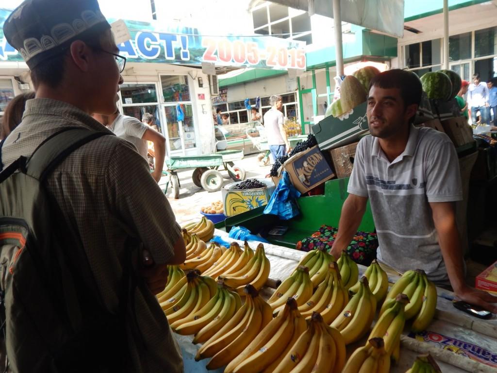 Practicing Tajiki Language Skills in the Bazaar