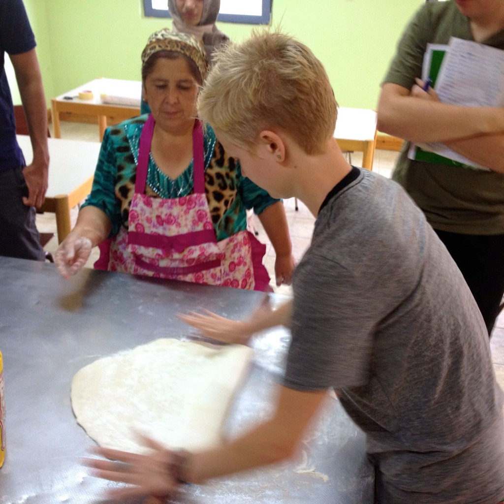 NSLI-Y Students Make Tajiki Sambusas, a traditional fried dough filled with vegetables or meat.