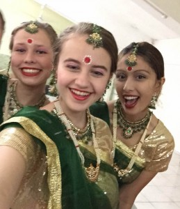 NSLI-Y students dressed in Ghagra, a traditional Indian dress.