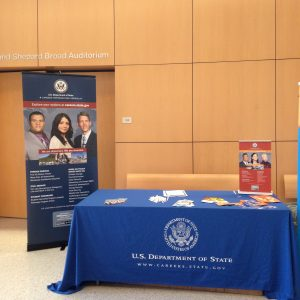 Picture of the U.S. Department of State booth and poster