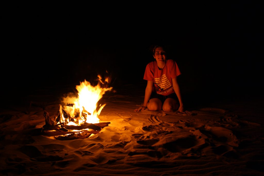 Starr camping in Egypt's Western Desert during her college semester abroad funded by a Boren scholarship, 2012