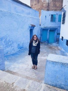 Madeleine pictured in Chefchaouen