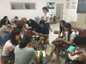NSLI-Y Chinese participants and their language partners work together to design surveys and translate them into Chinese.