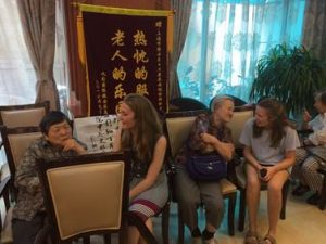 NSLI-Y Chinese participants with a 100 year old resident of the nursing home.