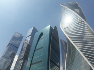 Pictured is the Empire Skyscraper in Moscow City.