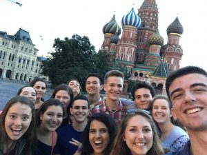 Pictured are Madison and her NSLI-Y Russia Summer 2017 Cohort.