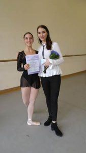 Catherine pictured with her ballet teacher