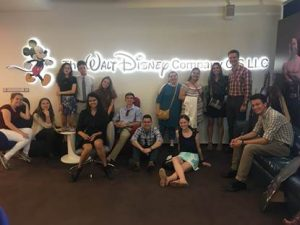 NSLI-Y students in the Russian Disney studios.