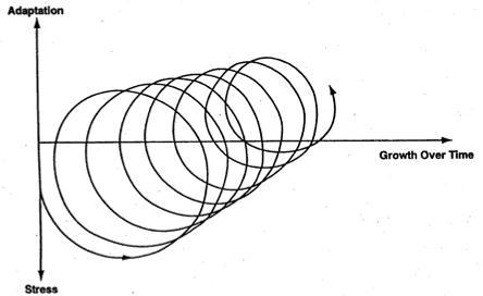 Stress-Adaptation-Growth Model