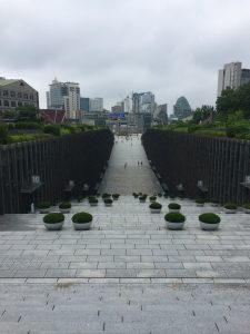 The entrance of Ewha Woman's University.