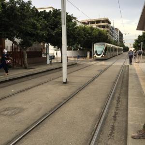 """""""Tram"""" stop Place Al Joulane"""