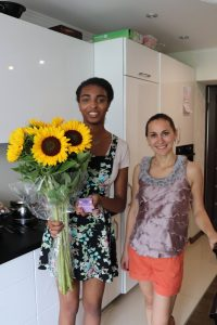 Photo of Halle with her host mom