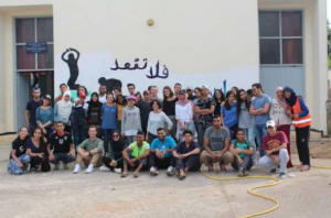 Big group of NSLI-Y students in Morocco