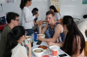 Interacting with Chinese peers in the cafeteria