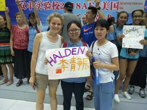 Halden with her Host Family in China