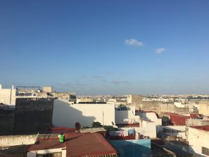 Rooftop view in Morocco